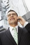Businessman Using Cell Phone Stock Photo