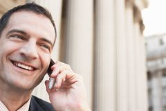 Businessman Using Cell Phone Stock Image