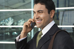Businessman Using Cell Phone Royalty Free Stock Photos