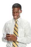 Businessman Using Cell Phone Stock Photography