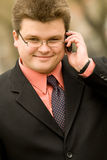 Businessman using cellphone Stock Photography