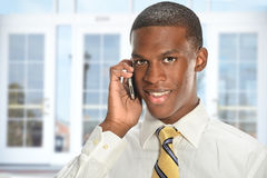 Businessman Using Cellphone Royalty Free Stock Images