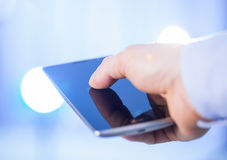 Businessman using a cellphone Royalty Free Stock Images