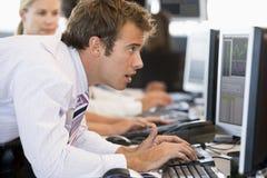Businessman Using Computer Stock Photos