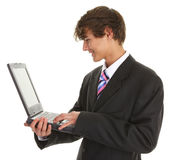 Businessman using computer Stock Photography