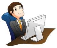 Businessman Using Computer. Illustrator design .eps 10 Stock Photography
