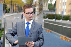 Businessman using computer tablet, Royalty Free Stock Photo