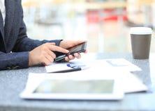 Businessman using digital tablet computer Stock Photography