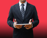 Businessman using digital tablet. Pc Royalty Free Stock Image
