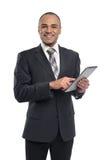Businessman using digital tablet Stock Images