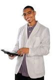 Businessman Using Electronic Pad Stock Photo