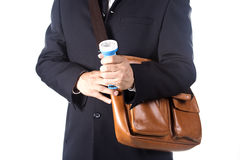 Businessman using flashlight Stock Photography