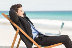 Businessman using his laptop Royalty Free Stock Image