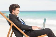 Businessman using his laptop Stock Photos