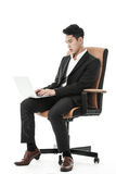 Businessman using his laptop Stock Image