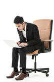 Businessman using his laptop Royalty Free Stock Photography