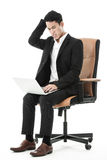 Businessman using his laptop Royalty Free Stock Photo