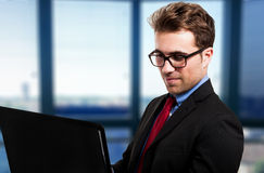 Businessman using his laptop Royalty Free Stock Photos