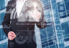 Businessman using innovative technologies Royalty Free Stock Photos