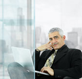 Businessman using laptop Royalty Free Stock Image