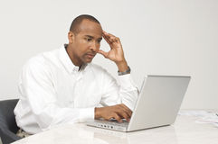 Businessman Using Laptop Royalty Free Stock Photo