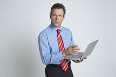 Businessman Using Laptop Royalty Free Stock Photo