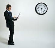 Businessman using laptop Royalty Free Stock Photos