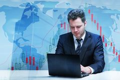 Trade and technology concept Royalty Free Stock Photo