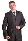 Businessman using laptop computer Royalty Free Stock Photos