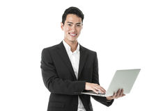 Businessman using a laptop Royalty Free Stock Photography