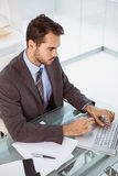 Businessman using laptop in office Royalty Free Stock Photo