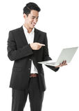 Businessman using a laptop Royalty Free Stock Photo