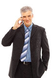 Businessman using a lphone Royalty Free Stock Images