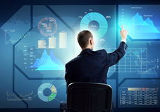 Businessman using media interface Royalty Free Stock Images