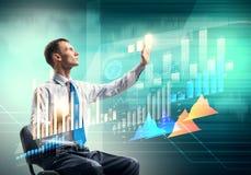 Businessman using media interface Royalty Free Stock Image