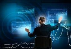 Businessman using media interface Stock Image