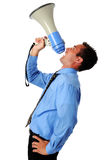 Businessman Using Megaphone Royalty Free Stock Images