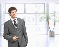 Businessman using mobile Royalty Free Stock Photo