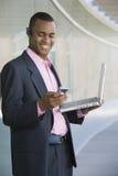 Businessman Using Mobile Phone Stock Photos