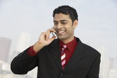 Businessman Using Mobile Phone stock photo