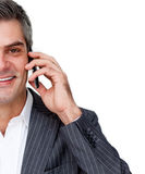 Businessman using phone Royalty Free Stock Photos