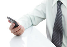 Businessman using phone Royalty Free Stock Images