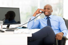 Businessman using phone Royalty Free Stock Photos