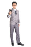Businessman using smart phone. Stock Photo