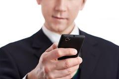 Businessman using smart phone Stock Image