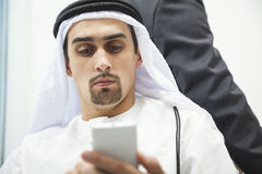 Businessman using smart phone Stock Photos