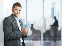 Businessman using smartphone Stock Photography