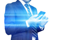 Businessman Using Smartphone Royalty Free Stock Image