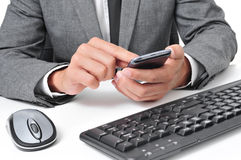 businessman using a smartphone in the office Royalty Free Stock Image