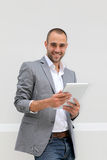 Businessman using tablet Royalty Free Stock Photo